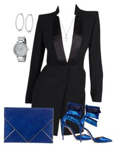 """Untitled #53"" by daviscantrece on Polyvore featuring Alexander McQueen, Aquazzura, Azzaro, Bony Levy and Michael Kors"