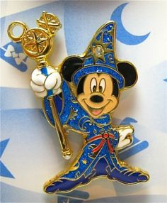 Tokyo Disney Sea pin, featuring Mickey Mouse as Sorcerer's Apprentice from Fantasies Come True