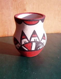Native American pottery miniature vase $32