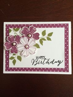 trendy craft birthday cards flower shopsYou can find Flower cards and more on our trendy craft birthday cards flower shops Birthday Cards For Women, Happy Birthday Cards, Scrapbook Birthday Cards, Flower Birthday Cards, Simple Birthday Cards, Free Birthday, Special Birthday, Homemade Birthday Cards, Homemade Cards