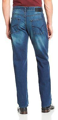 New Calvin Klein Mens MEDIUM WASH RELAXED  STRAIGHT LEG JEAN You Pick Size  Price : 23.99$