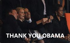 Well, This is Obama at Mandela's service. Selfie indeed is the Oxford word of the year.