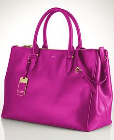 Lauren Ralph Lauren Handbag, Newbury Double Zip Satchel - All Handbags - Handbags & Accessories - Macy's