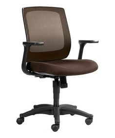 This Brown Mesh Office Chair is perfect! #zulilyfinds
