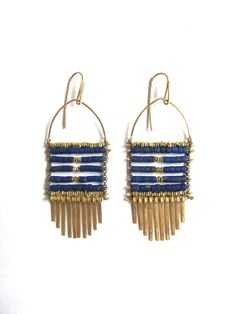 The Vault of the Sky Lapis Earrings by demimondejewelry on Etsy, $170.00