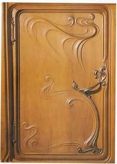Art Nouveau cabinet face