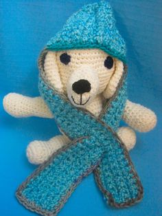 Pet Scoodie Dog Cat Hoodie Scarf Aqua/Blues Small Handmade Crochet by Bren by HandCraftedByBren on Etsy
