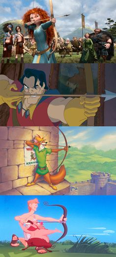 Many Disney characters have mastered archery.