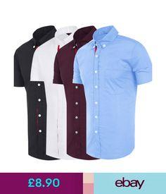 Casual Shirts & Tops Mens Fashion Short Sleeve Top Button Shirts Casual Slim Fit Dress Shirt T-Shirts #ebay #Fashion