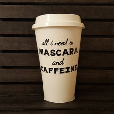 All I Need Is To Go Coffee Cup by MyTrailsofGlitter on Etsy