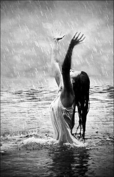 Rain is grace; rain is the sky descending to the earth; without rain, there would be no life. Black White Photos, Black And White Photography, I Love Rain, Rain Days, Rain Photography, Singing In The Rain, When It Rains, Foto Art, Belle Photo