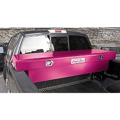 From the original pinner .think I am going to get me one of these and put it in the back of my hubbies' black truck.do you think he would mind? Camo Truck, Pink Truck, Black Truck, Lifted Trucks, Big Trucks, Chevy Trucks, Pickup Trucks, Lifted Chevy, Pink Tool Box