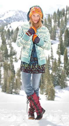 Love this look and color combo from the Sundance catalog. Those boots! Teen Boy Hairstyles, Short Hairstyles Fine, Casual School Outfits, Trendy Outfits, Cute Outfits, Cozy Fashion, Winter Fashion, Bohemian Style, Bohemian Fashion