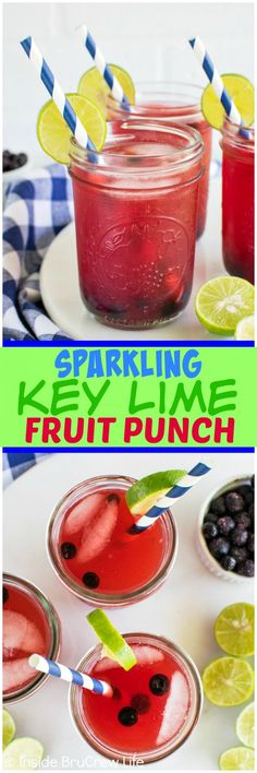 Sparkling Key Lime Fruit Punch - key lime juice and fruit punch makes ...