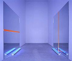 Keith Sonnier - Mirror Act - 1969 60s Art, Light And Space, Process Art, Light Installation, Design Museum, Neon Lighting, Art Design, Light Art, American Artists