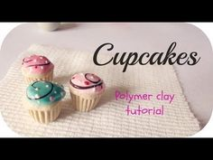 ❤ Cupcakes - Polymer Clay Tutorial ❤ by Killer~ Fimo Polymer Clay, Polymer Clay Cupcake, Crea Fimo, Polymer Clay Miniatures, Polymer Clay Projects, Polymer Clay Creations, Clay Crafts, Biscuit, Creation Deco