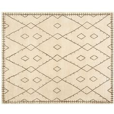 Pottery Barn Ayda Hand-Knotted Rug ($880) ❤ liked on Polyvore featuring home, rugs, hand-knotted rug, pottery barn rugs, geometric pattern rugs, hand knotted area rugs and hand loomed rug