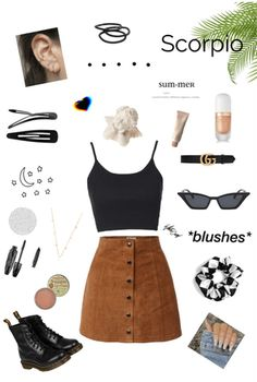 Discover outfit ideas for made with the shoplook outfit maker. How to wear ideas for aesthetics and grunge aesthetic Teen Fashion Outfits, Grunge Outfits, Outfits For Teens, Trendy Outfits, Cool Outfits, Aesthetic Fashion, Aesthetic Clothes, Aesthetic Outfit, Scorpion