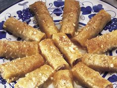 We have many things to thank the Greeks for, baklava is but one of them. These cigar shaped treats drenched in syrup go perfectly with a steaming hot cup of espresso.