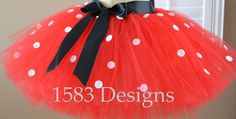 Minnie Mouse Inspired Tutu Skirt with Sash For Big Kids and Adults by 1583Designs any minnie color combo pink or red disney special occasion custom photos costume
