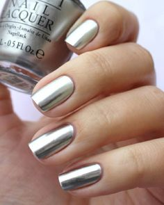 Be Simple Yet Beautiful: Top 65 Picks For Elegant Nail Art Designs elegant nails delaware - Elegant Nails Be Simple Yet Beautiful: Top 65 Picks For Elegant Nail Art Designs Opi Nail Polish, Opi Nails, Nail Polish Colors, Silver Nail Polish, Color Nails, Nail Polishes, Sliver Nails, Metallic Nails, Metallic Colors