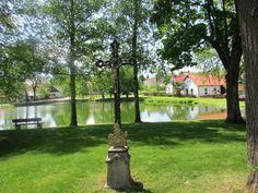 Křížek u rybníka - Radostín - Žďársko - kraj Vysočina