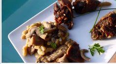 Confit de canard champignons flageolets cuisson plancha à gaz
