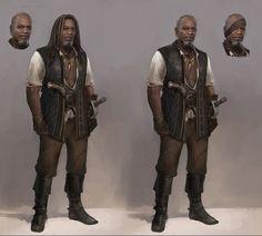Pirate character concept 4, Piotr Krezelewski on ArtStation at https://www.artstation.com/artwork/pirate-character-concept-4