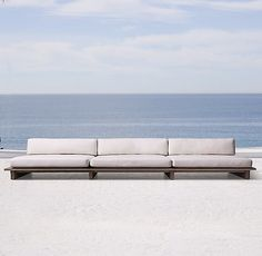 Danish designer Soren Rose has designed a new line of low-profile, refined outdoor furniture for Restoration Hardware; we're on board.