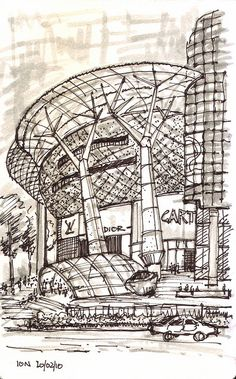 [A3N] : ION Orchard , Singapore / Benoy & RSP Architects & Engineers / Paul Wang sketch