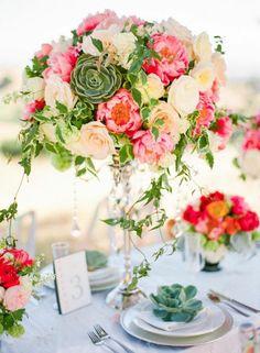 Sommer Tischdekoration für eine wundervolle Hochzeit