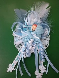 Mom to be Baby Shower Corsage capia for Boy Blue by LiviWear, $6.50