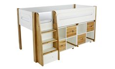 Purchase a Stompa Radius Midsleeper, 3 Drawer Chest & 2 Cube Units with 4 Doors at Room To Grow. We offer price match availability & free delivery available Box Room Beds, Cabin Bed With Desk, Childrens Cabin Beds, Mid Sleeper Bed, Cube Shelving Unit, Cube Unit, High Beds, White Doors, 3 Drawer Chest