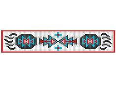 Loom Beadwork Pattern Native American Bear Bracelet 4