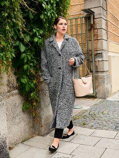 Bouclé Coat (Plus Size) 11/2016