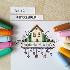 """291 Likes, 6 Comments - Valeria  Estonia ✌ RU (@blackberryjelly) on Instagram: """"#100daysofdooodles2 #100dayproject #100daysproject #doodle #drawing #markers #copic #homesweethome…"""""""