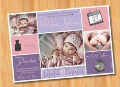 Danksagungskarten Geburt Geburtskarte MUSTER 145 - Bild vergrößern