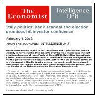 February 12, 2013: Italy's Political Turmoil Shakes Investor Confidence