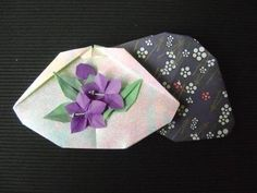 """Kai awase folded by me  One of the more famous pastimes of the Japanese nobility was a class of pastimes called """"awase,"""" meaning """"matchings"""" or """"joinings."""""""