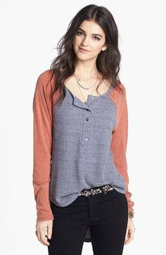 Free People 'The PJ' Raglan Sleeve Top available at #Nordstrom