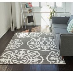 Shop for Well Woven Mano Shades of Grey Suzzani Bold Grey Polypropylene Rug (7'10 x 9'10). Get free shipping at Overstock.com - Your Online Home Decor Outlet Store! Get 5% in rewards with Club O!