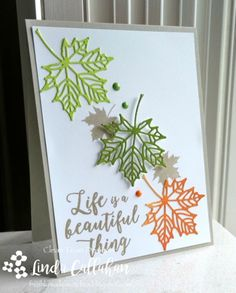 Card by Linda Callahan  (072617)  [Stampin' Up! (dies) Seasonal Layers Thinlits; (stamps) Colorful Seasons]
