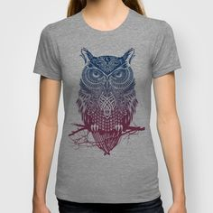 Evening Warrior Owl T-shirt For sale on Society6.com starting from 22$ Also available as: canvas, tshirts, mugs, clocks, pillows, iPhone & iPadcases and others