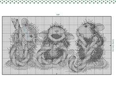 Cross-stitch House Mouse Candy Cane Joy, part 2..  color chart on part 1