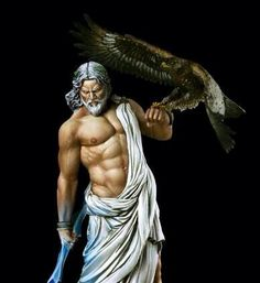 Zeus was the King of the Gods. He ruled the heavens and Olympus with his symbols, the lightening bolt and the eagle.