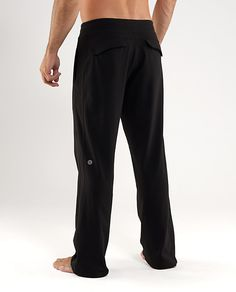 Lululemon Mens Kung Fu Pants In Great Condition Continuous Drawstring At Inner Waist Cut Off Other Than That Excellent