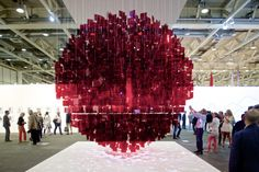 Continuel Mobile - Sphere Rouge by Julio Le Parc.  Art Basel and Design Miami Basel 2014