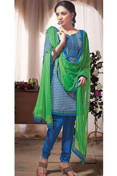 Elegant Simple Wear Cotton Blue,Green Suit