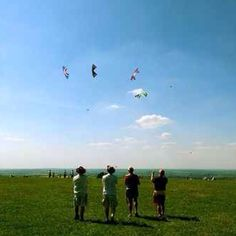 Dunstable Downs, Bedfordshire, one of the best places to go kite flying
