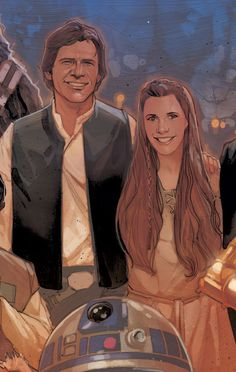 """From the newly announced Marvel series """"Shattered Empire."""" Can't wait to see what the new canon has in store for these two post-RotJ!"""